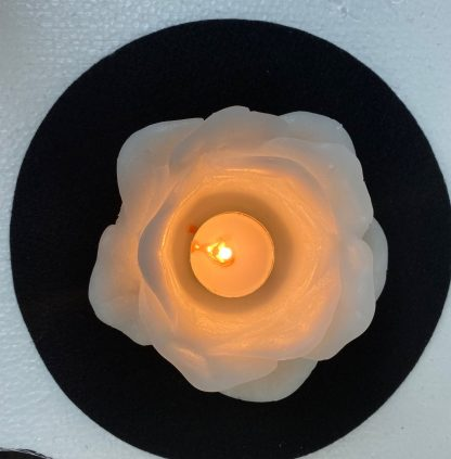 Rose Candle Top View