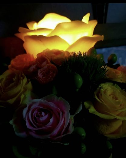 Yellow Color Rose Candles