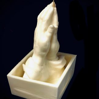 praying hands candle